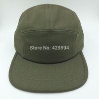 Free shipping high quality cotton herringbone pattern 5 panel camp cap hat hip hop hat custom snapback cap