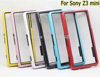 2PCS Fashion Anti-Skid Dual-color Frame Bumper Soft TPU gel silicon Case Cover for Sony Xperia Z3 mini z3 compact M55W