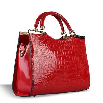 2014 крокодил картина лакированной кожи PU женщин сумка на молнии сумки валентина мода bolsos-mujer бесплатная доставка