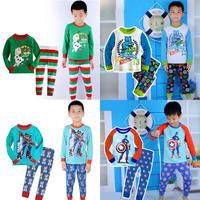 Retail christmas kids pajama sets funny cartoon toddler baby children's sleepwear girls boys pyjamas nightwear Pjs