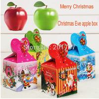 200pcs/lots Wholesale Christmas Gift Christmas Decorations Christmas eve apple box -free shipping