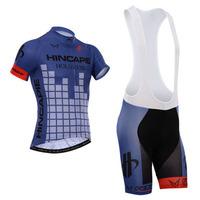 2014 hincapie blue Jersey cycling jersey short sleeve cycling clothing men Cycling wear+bib shorts sets