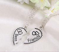 Best Friends Fashion Letters Lovers Heart Pendant Necklace Wholesale
