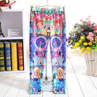 1056 The princess prince castle Digital Printing New 2014 School Child Legging Sports Pant Children Clothing Baby Girl Pants