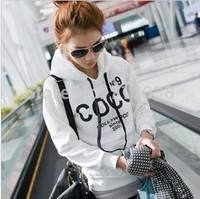 fashion 2014 Korea stlye autumn/winter New Lady pullover Hoodies & hoody Sweatshirts Women's Pure cotton Sweatshirts female tops