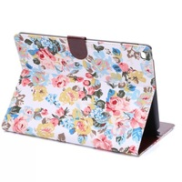 2014 new tablet for ipad air 2 print case floral case cover for ipad air 2 tablet  free shipping 1pc+stylus