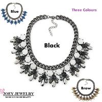 New luxury Za design wholesale women bib collar fashion necklace & pendant chunky choker pendant Necklace statement jewelry