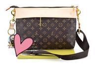 Hot sale women vintage brown name brand messenger bag high quality floral pu leather handbags 2014 designer women cross body bag