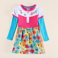 Babi Princess Girl Clothing Child Flower Girls Clothes Kids Cotton Dress TuTu Dresses For Girl Costum H4629