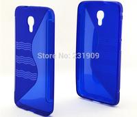 2014 New Wave S Line TPU Soft Gel Skin Flexible Slim Back Cover Anti-skid Case For Alcatel One Touch Idol 2 S OT-6050,Free Ship