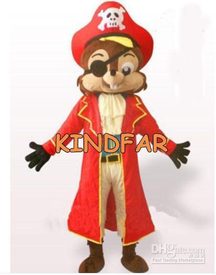 Hot sale 2014 Adult Pirate Chipmunk Squirrel Kids Mascot Costume Fancy Dress Cartoon Adult Outfit Suit(China (Mainland))
