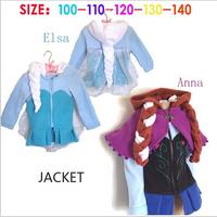 frozen coat 2014 New girls Frozen Hoodies Elsa costume jacket clothing for children girls hoodies Fleece baby & kids coat