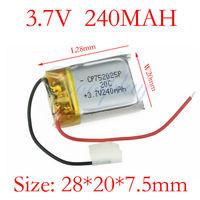 Free shipping 2pcs/Lots 3.7V240mAh Battery for  V-max 6020-1 Syma S107G S108G S109G S026 WL V757 V388 V319 V398 S215 S977