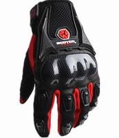 Free shipping Full finger gloves imitation carbon fiber motorcycle gloves