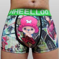 2014 Special Offer Cueca Men Boxer [ 200 ] One Piece Anime Cartoon free Shipping Men's Underwear Boxer Wholesale Seamless 2210