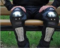 Free shipping Stainless steel anti-piercing Leggings drop resistance brace off-road racing motorcycle kneepad