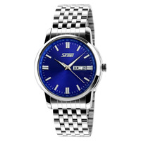 2014 skmei 9081 30M waterproof Brand New Military Sports Quartz Wristwatches Men Full Stainless Steel watch