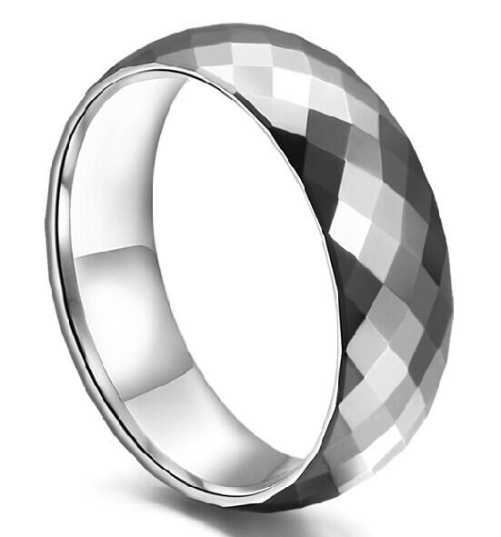 Fashion Tungsten Ring Men Jewel Matching Wedding Ring Size 8 9 10 11 12 CZSR039