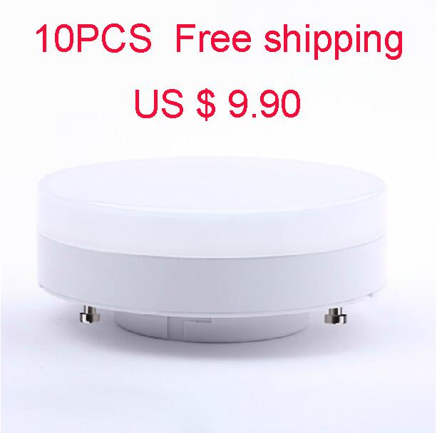 10PCS GX53 LED Bulb 8W 16*5730SMD 550LM 6000K Cool White Light LED Cabinet Lamp(AC100-265V) Free Shipping cabinet Light(China (Mainland))