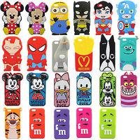 3D Minnie minions batman rabbit ironman CARTOON Silicone Case Cover for 4.7 inch Iphone 6G 6 cellphone Child