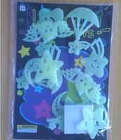 60pcs/lot Angel Stars glow wall In The Dark Stickers Baby Kids Gift Nursery Room Luminous Fluorescent Stickers
