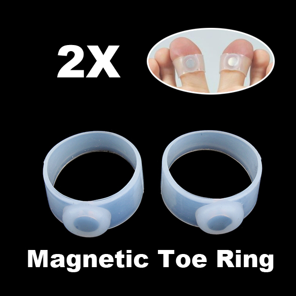 Hot Sale 2 x Slimming Weight Loss Keep Fit Magnetic Toe Ring NVIE