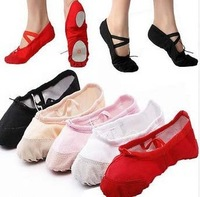 Check special size convert before buy 22~45 2prs/lot can mix colors sizes soft sole girls ballet dance shoes women dancing shoes
