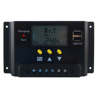 12V/24V 20A lcd charge controller voltage and current display solar charge controller