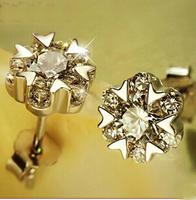 high quality in aliexpress elegant snow zirconia earrings women  925 sterling silver earrings SKY-22