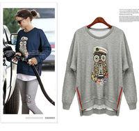 Sweatshirt Sport Clothing Long Sleeves O-neck 3D Printed Animal Sport Tracksuit Fashion Design Zipper Femininas NZH050