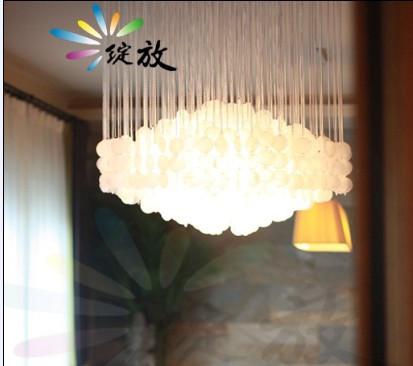 Bloom American Village Restaurant Bar nostalgic retro fashion simple table lamp shell chandelier classic personality(China (Mainland))
