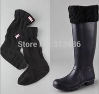 5pcs/lot Knited Rainboots Socks warmly boot Cuff Rain boots Socks M L size for tall rain shoes rainboots socking
