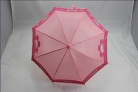 1 piece pink color flower pattern long-handle children umbrella girls umbrella