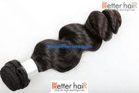 Stock pure virgin full cuticle unprocessed 7A loose wave virgin brazilian hair