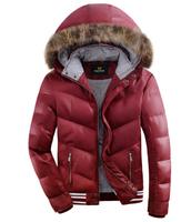 Hot Brand men's jackets ,men's Winter jackets ,Hooded casual white duck down coat, detachable cap down jacket ,M-XXXL