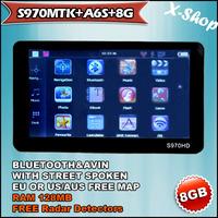 X-SHOP S970MTK+A6S+8G 7'inch bluetooth AV-in & 8GB AUS/CA/US MAP& RAM 128MB Russia/Belarus/Ukraine/Brazil map