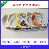 Hot sale Sports BAND - GameDay Power Silicone Wristband Bands PB BANDS 10pcs/lot  no box free shipping