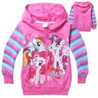 My little pony Kids girls hoodies baby cartoon Sweatshirts kids spring autumn outerwear pullover jacket