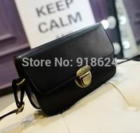 TFH Women's Bag 2014 New Fashion Lady's Clasp PU Mini Shoulder Bag Wild Casual Mortise Lock Messenger Bag Free Shipping