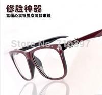 I-bright Wholesale 10pcs/lot brand design men/women gun flower crow myopia eyeglasses square frame prescription glasses