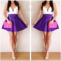 2014 summer new fashion women's clothing women's sexy sleeveless chiffon  Above Knee, Mini dress   party dress