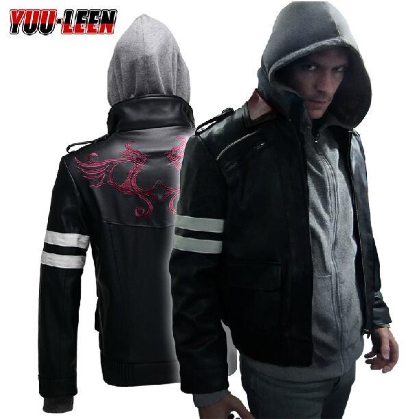 Free shipping Hot Sale Men leather jacket sheep skin leather jacket mink suede leather coat Murder prototype prototype clothes(China (Mainland))