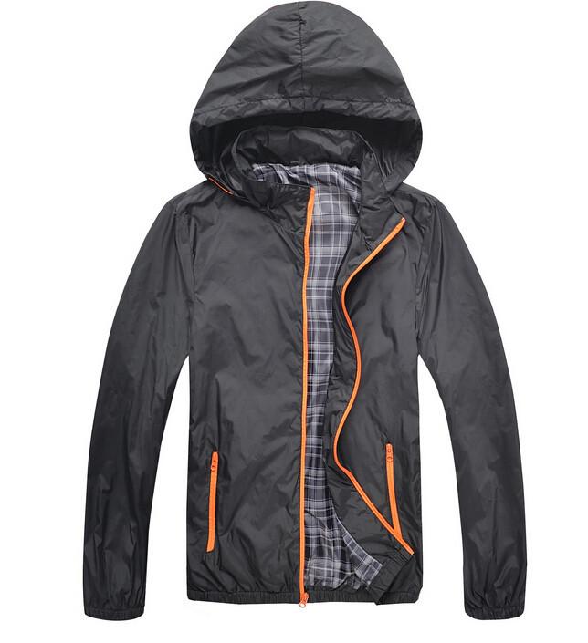Man Waterproof Jackets 2014 Brand New Spring Autumn Hoodie Jacket Men Sportswear Fitness Windbreaker Zipper Sport Coats ZHX1186(China (Mainland))
