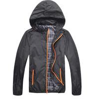 Man Waterproof Jackets 2014 Brand New Spring Autumn Hoodie Jacket Men Sportswear Fitness Windbreaker Zipper Sport Coats ZHX1186