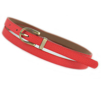 Vintage Casual Female Thin Mixed Pigskin Leather Belts Woman Straps Waist Belt for Women