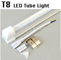 30Pcs/lot Led fluorescent 20W T8 led integration tube light milky pc cover tube lamp holder 1.2m 85V-265V