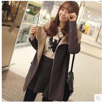 Temperament long slim fit women's Korean version of new autumn and winter warm coat women's coat