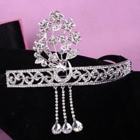 Promotion new fashion Silver rhinestone wedding Tiara 2014 new design bridal hair jewelry accessories XB12