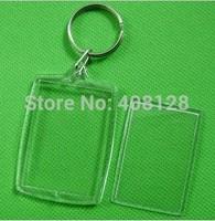 DHL Free shipping 500pcs/lot Blank Acrylic Keychains key chains Insert Photo plastic Keyrings 02