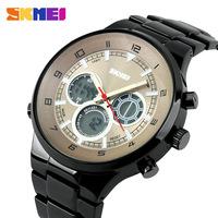 Skmei Watches Men luxury brand LED Digital Quartz Wristwatches dive 30M relogio masculino full Stainless Steel Military Watch